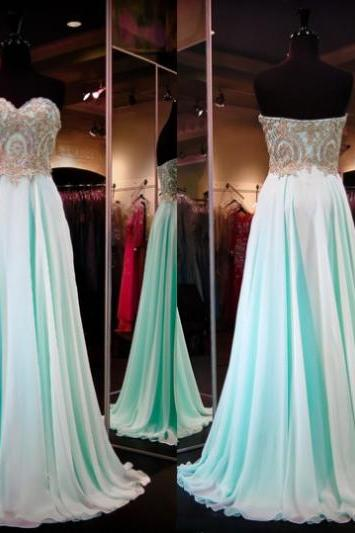 Sleeveless Formal Dress Sweetheart Sweep/Brush Train Chiffon Sequin Zipper On Sale A-line Dress
