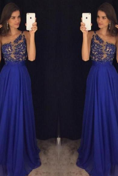Sleeveless Formal Dress One-shoulder Floor-length Chiffon Beading Discount A-line Dress