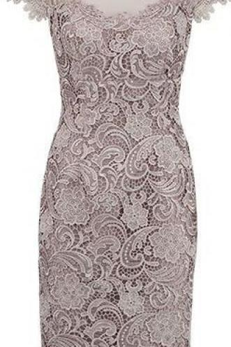 Column Wedding Dresses Grey Wedding Dresses