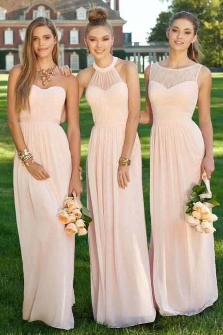 Floor Length Bridesmaid Dresses Bateau Bridesmaid Dresses