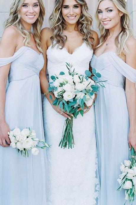 Chiffon Bridesmaid Dresses A Line Bridesmaid Dresses Floor Length Bridesmaid Dresses