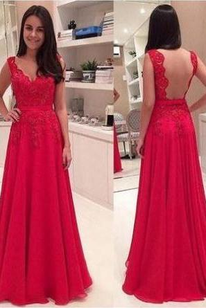 Custom Made Red Sweetheart Neck Lace Prom Dress with Scalloped Detailing
